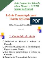 aula Leis e Volume de Controle