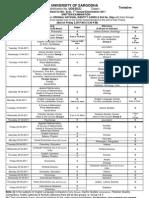 date sheet of Ba BsC 2011