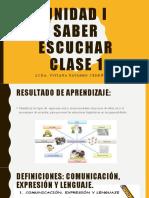 CLASE 1 LA COMUNICACION ORAL