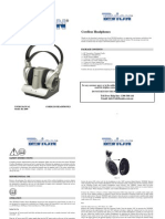 Tevion Cordless Headphones Instruction Manual