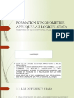 FORMATION D'ECONOMETRIE APPLIQUEE AU LOGICIEL STATA
