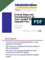 mySAP ERP Upgrade Plan