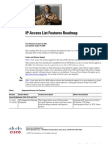 IP Access List Features Roadmap