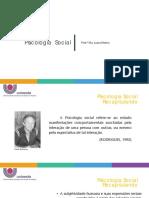 Aula 4 e 5 - Introdução à Psicologia Social