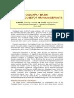 cudapah-uranium deposits
