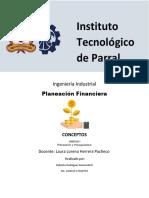 Conceptos Planeacion Financiera Unidad 1
