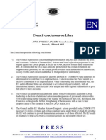 Council of the European Union:- Council Conclusions on Libya