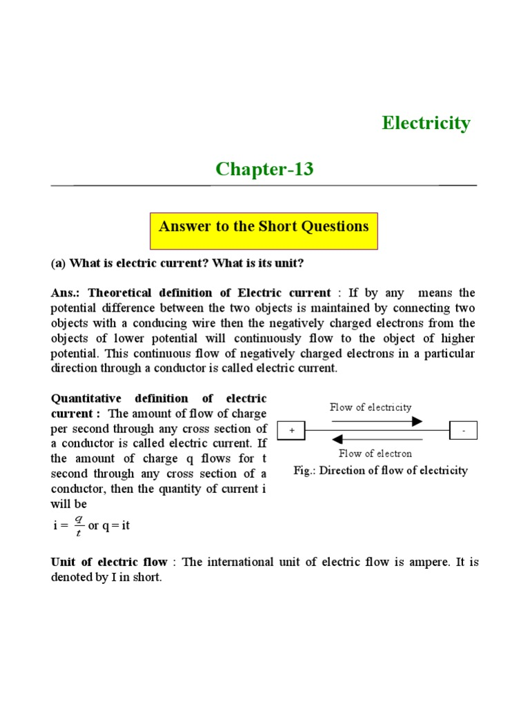 electricity   electric current   voltage
