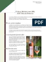 Château Mentone Rosé 2010