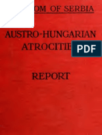R. A. Reiss to Kingdom of Serbia - Austro-Hungarian Atrocites -  Report [1918]
