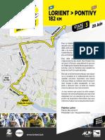 Plan de circulation à Lorient lors du départ de la 3e étape du Tour de France