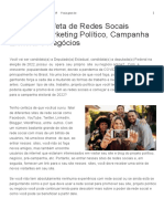 Seja Um Profeta de Redes Socais Fazendo Marketing Político, Campanha Eleitoral e Negócios