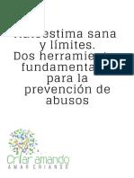 Autoestima sana y límites Dos herramientas fundamentales para la prevención de abusos