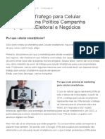 Marketing e Trafego Para Celular Smartphone Na Política Campanha Propaganda Eleitoral e Negócios