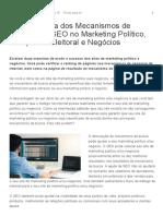 A Importância Dos Mecanismos de Busca e Do SEO No Marketing Político, Campanha Eleitoral e Negócios
