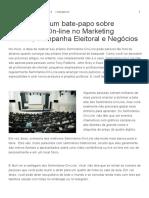 Começando Um Bate-papo Sobre Seminários on-line No Marketing Político, Campanha Eleitoral e Negócios