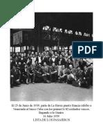 Primeros Exiliados Vascos a Venezuela 1939