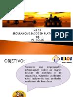 NOVA NR 37 - SEGURANÇA E SAÚDE EM PLATAFORMAS DE PETRÓLEO BR