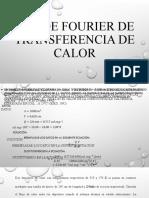 Ley de Fourier de Transferencia de Calor