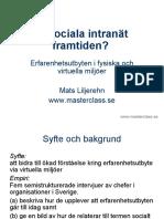 Mats Liljerehn - Onesys frukostseminarieum 22 mars