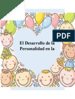 El Desarrollo de La Personalidad Durante La Infancia