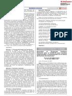 """Resolución Ministerial N° 079-2021-MINCETUR que aprueba el """"Protocolo Sanitario Sectorial ante el covid-19 para eventos empresariales y profesionales en el marco del turismo de reuniones"""""""
