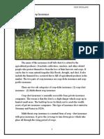 sudhir crop insurance final
