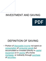 Investment and Saving