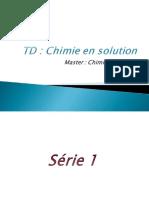 Chimie en Solution TD