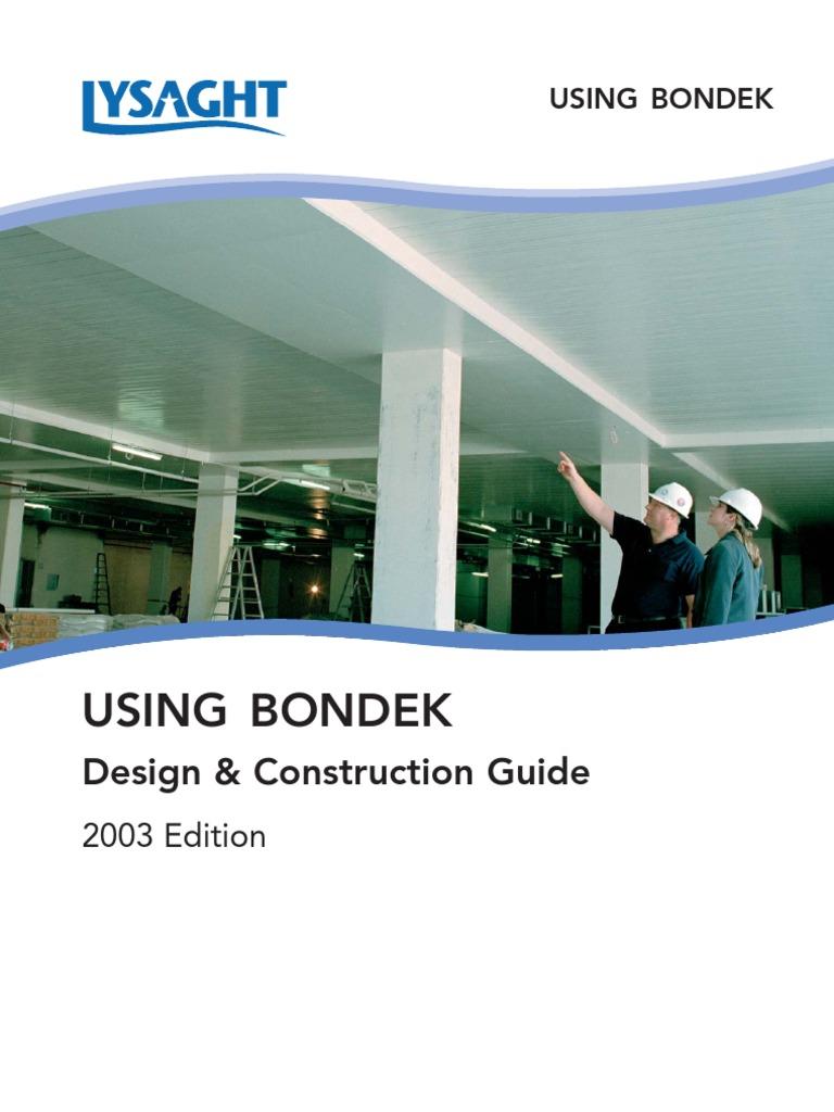 bondek design  u0026 construct manual