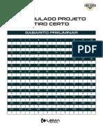 Simulado Projeto Tiro Certo 2 Gabarito