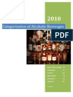 Categorization of Alcoholic Beverages
