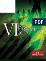 Folleto VI Foro Financiero 2010 Seminarium