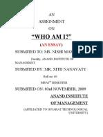 WHO AM I ???