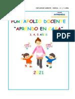 Portafolio Docente - 3, 4, 5 Años