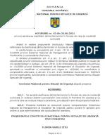 Hotarare CNSU Nr 42 Guvernul Romaniei