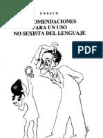 RECOMENDACIONES PARA UN USO NO SEXISTA DEL LENGUAJE