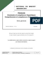 Grammaire Lecture Image Brevet 2019 Antilles Guyane
