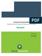 Corporate Sustainability Green Research SAMPLE