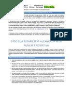 Cartilha da CNEN com orientações a brasileiros no Japão em caso de agravamento da questão nuclear