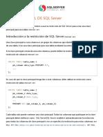 SQL Server PRIMARY KEY