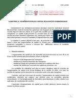 Chap 3 Augmentation de Capital Des Sociétés Commerciales Pour PF