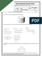 Matemática Sobre Planificação e Sólidos Geometricos.