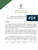 Homilia de Ordenación de Mons. Ricardo Araya