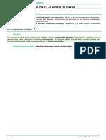 Fiche P4.3 - Le Contrat de Travail