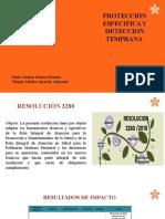 PROTECCIÓN ESPECIFICA Y DETECCION TEMPRANA