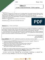 Série d'exercices N° 8 - Sciences physiques La force de Laplace – Acides et bases de Brönsted – Chimie organique - 3ème Mathématiques (2011-2012) Mr Adam Bouali