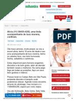 Alícia (11) 96495-4266, Uma Linda Acompanhante de Luxo Morena, Confiram. _ PhotoAcompanhantes