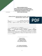 ANEXO 3 ACTA DE APROBACIÓN DEL TEG O TG POR  EL TUTOR UNES