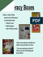 Literacy Boxes